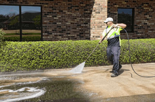 commercial concrete cleaning in independence